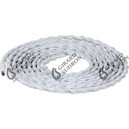 twisted cable - white 2m 2 x 0,75mm2