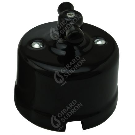 RETRO-INDUS switch porcelain surface mounted black