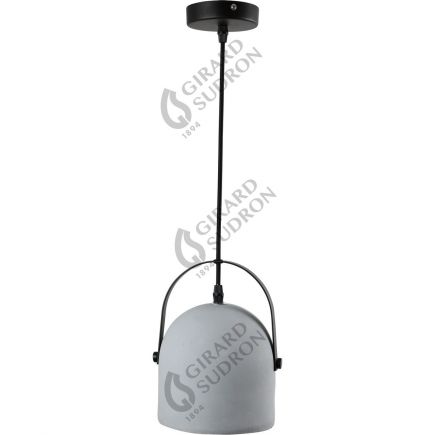 CONCRETE - suspension - black canopy - E27
