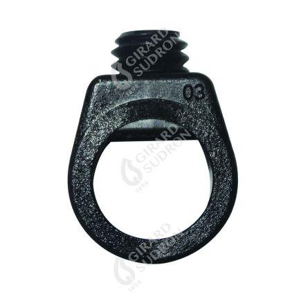 Maintien de câb. av. vis de blocage ext. Ø12mm int.Ø7.4mm noir