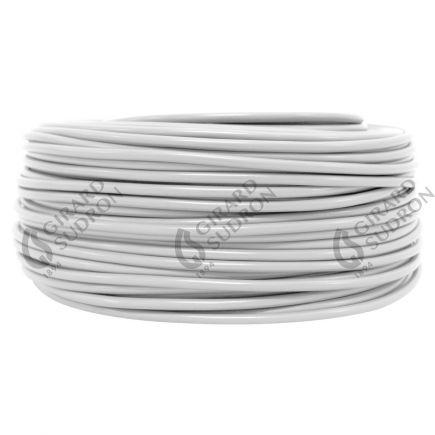 Câble PVC rond double isolation 3 x 0.75mm² L.100m blanc