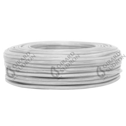 Câble PVC ovale double isolation 2 x 0.5mm² L.100m blanc