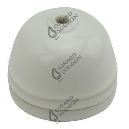 Rosace porcelaine ø68mm blanc