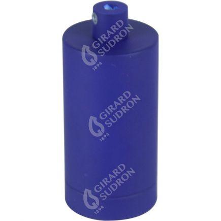 Douille E27 aluminium ø48mm H.105mm bleu outremer