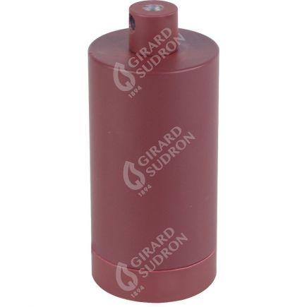 Douille E27 aluminium ø48mm H.105mm rouge grenat