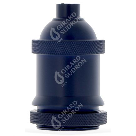 Douille E27 aluminium ø50mm H.72mm bleu outremer mat