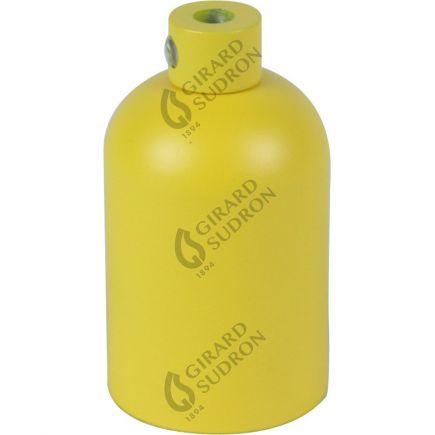 Douille E27 aluminium ø42mm H.62mm jaune ocre mat
