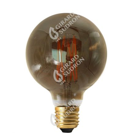 Globe G95 Filament LED 4W E27 2100K 200Lm Dim. Smoky RA>90