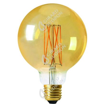 Globe G125 Filament LED 6W E27 2100K 390Lm Dim. Amb. RA>90