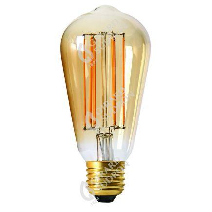 Edison Filamento LED 4W E27 2100K 260Lm Dim. Amb