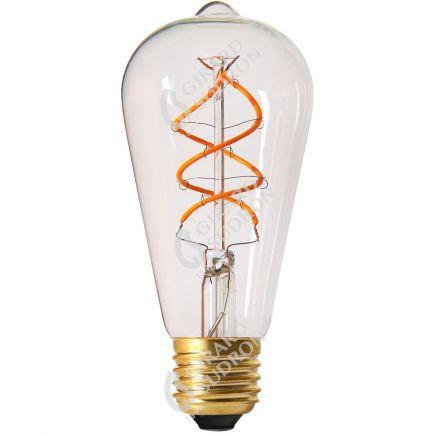 Edison Filamento LED TWISTED 5W E27 2200K 300Lm Ch.