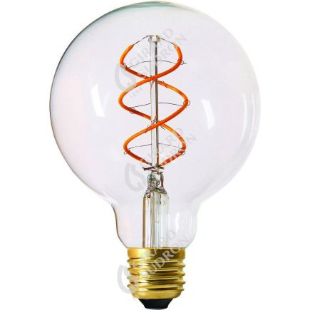 Globe G95 Filament LED TWISTED 4W E27 2000K 240Lm Dim. Cl.