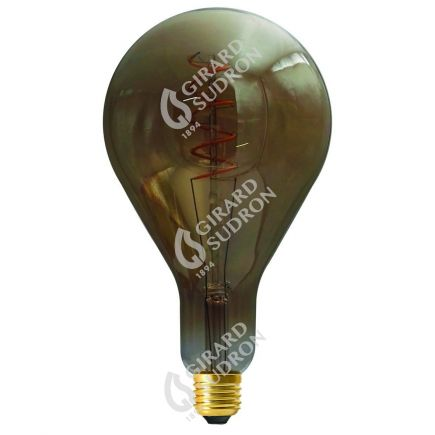 Ampoule Géante Filament LED TWISTED 240mm 4W E27 2000K 160Lm Dim. Smoky