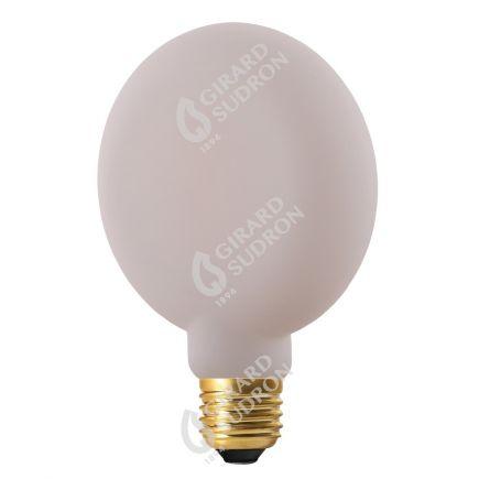 Ampoule Plate G105 6W600lm  E27 2700K Opaline. Dim