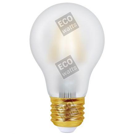 Ecowatts - Standard A60 Filamento LED 6W E27 2700K 740Lm Mat