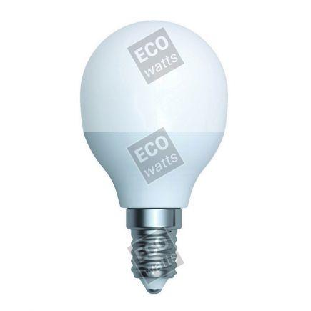 Ecowatts - Sferica G45 (2 pezzi) LED 270° 5.5W E14 2700K 470Lm Opaca
