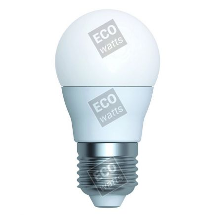 Ecowatts - Sferica G45 (2 pezzi) LED 270° 5.5W E27 2700K 470Lm Opaca