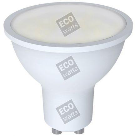 Ecowatts - Spot (2 pezzi) LED 270° 5W GU10 3000K 400Lm 100° Opaca