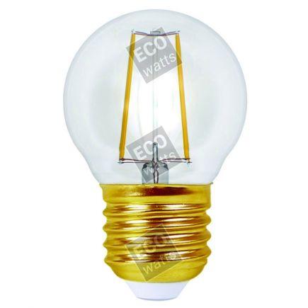 Ecowatts - Sferica G45 Filamento LED 4W E27 2700K 420Lm Ch.