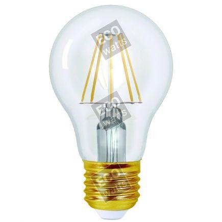 Ecowatts - Standard A60 Filamento LED (2 pezzi) 6W E27 2700K 760Lm Ch.
