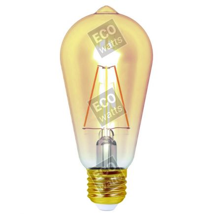 Ecowatts - Edison Filamento LED 4W E27 2200K 360Lm Amb.
