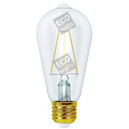 Ecowatts - Edison Filamento LED 4W E27 2700K 400Lm Ch.