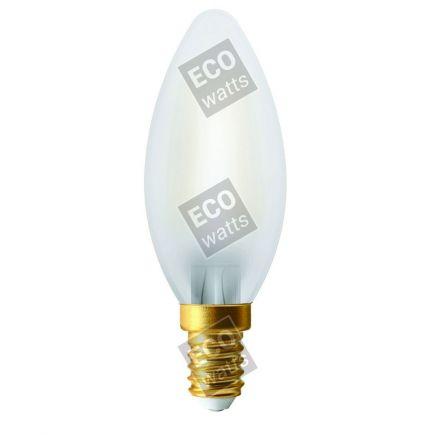 Ecowatts - Fiamma C35 Filamento LED (2 pezzi) 4W E14 2700K 400Lm Mat