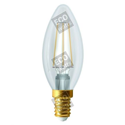 Ecowatts - Fiamma C35 Filamento LED 4W E14 4000K 440Lm Ch.