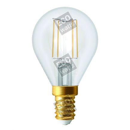 Ecowatts - Sferica G45 Filamento LED 4W E14 4000K 440Lm Ch.