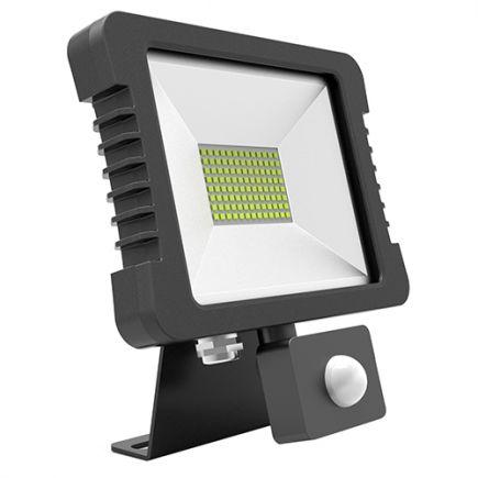 Yonna - Lampada del proiettore LED IP 65 118x167.5x27.5 10W 4000K 760lm 110° nero PIR