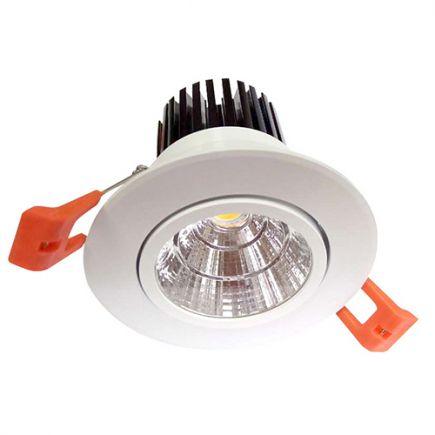 Cavell - Faretto a LED da incasso orientabile Ø85 x 80 inc.Ø75 10W 4000K 900lm 24° bianco