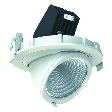 Simba - Faretto a LED regolabile Ø136x100 inc.Ø125 20W 4000K 1204lm 36° bianco