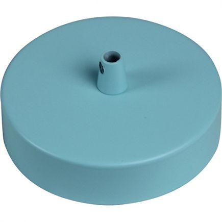 Pavillon acier sortie simple Ø100mm bleu clair mat