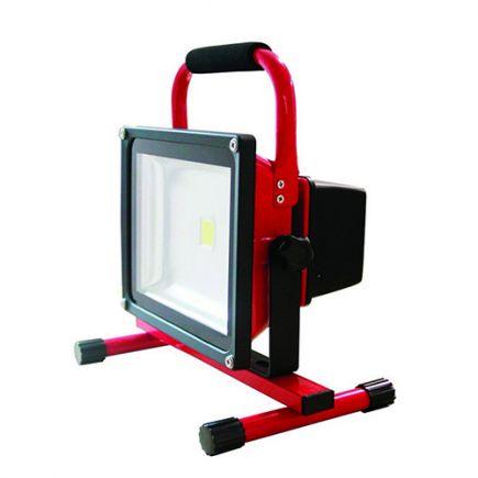 Lassen - Lampada del proiettore LED IP 65 305 x225x184 30W 2700K 1200lm 120° rosso
