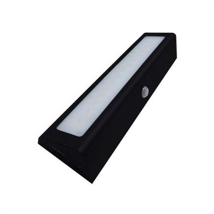 Menkar - Illuminazione per mobili LED 210x55x30 1W 3000K 100lm 90° nero