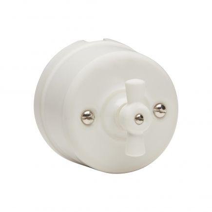 RETRO-CHARM switch porcelain surface mounted white