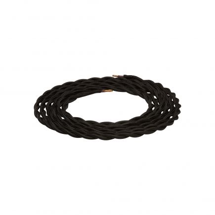 twisted cable - black 2m 2 x 0,75mm2