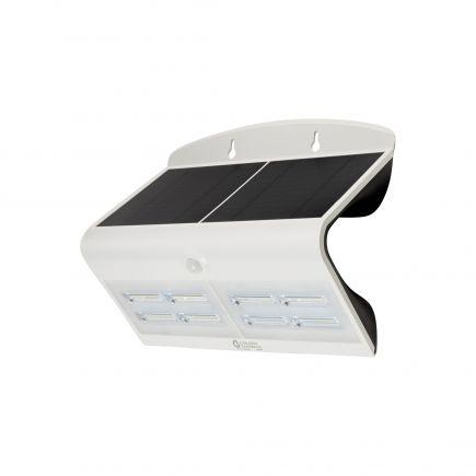 BUTTERFLY - Projecteur solaire LED blanc détecteur présence IP65 4000K 6,8W 800lm
