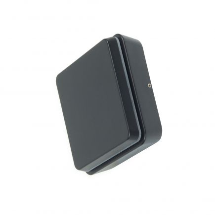 Elypte - Eclairage résidentiel 12,5W 3000K 600lm 140x140x48mm CLI IP54 carré Dark Black