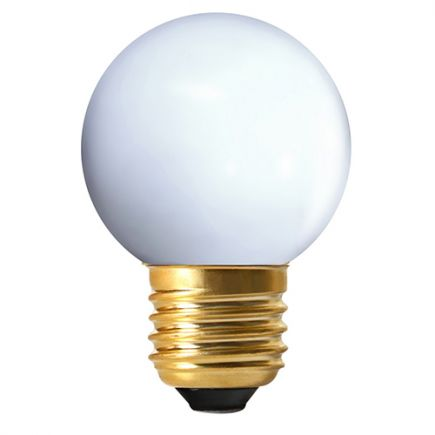 Sferiche colorate LED 1W E27 4000K 80Lm Bianco