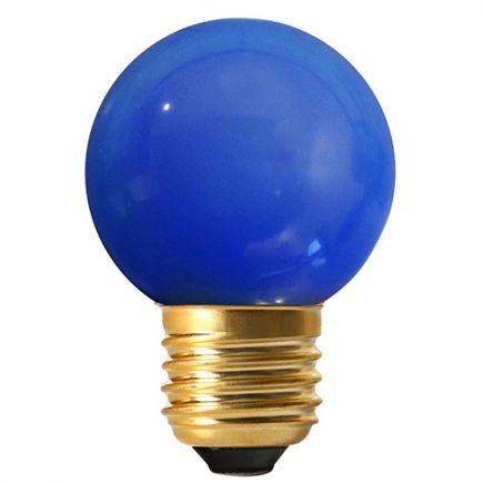 Sferiche colorate LED 1W E27 30Lm Blu