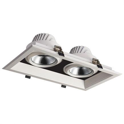Jay - Faretto a LED multiplo 351x200x107 inc.325x175 2x30W 4000K 5400lm 36° bianco