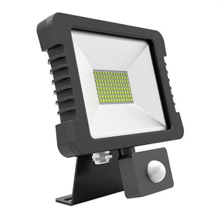 Yonna - Lampada del proiettore LED IP 65 250x268x51 50W 3000K 3600lm 110° nero PIR