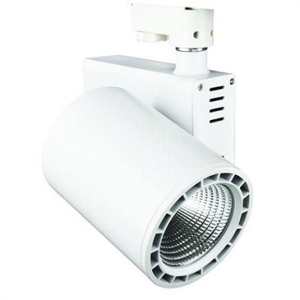 Jacinto - Faretti su binario LED Ø99 x 148 35W 3000K 2975lm 36° bianco