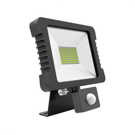 Yonna - Lampada del proiettore LED IP 65 118x167.5x27.5 10W 3000K 720lm 110° nero PIR