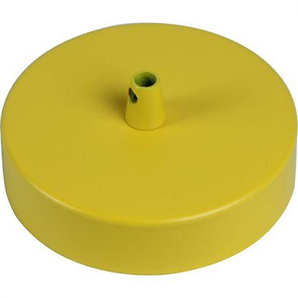 Pavillon acier sortie simple Ø100mm jaune ocre mat