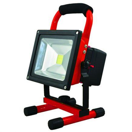 Lassen - Lampada del proiettore portable ricaricabile con USB IP 65 256x182x170 20W 4000K 1000lm 120° rosso